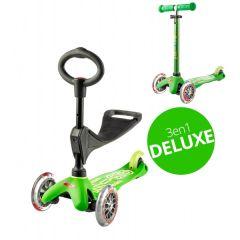 Mini Micro Scooter 3in1 Deluxe grün, von 1 bis 5 Jahre alt