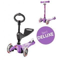Mini Micro Scooter 3in1 Deluxe purple violett, von 1 bis 5 Jahre alt