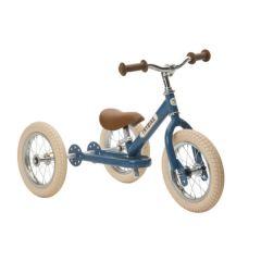Dreirad Trybike Laufrad Junge oder Mädchen Stahl 2-in-1 Vintage look, ab 15 Monate blau