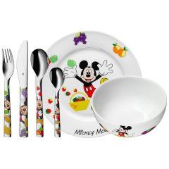 Kinderbesteck Teller und Schal Kinder, Geschenk Set Micky Mouse, WMF
