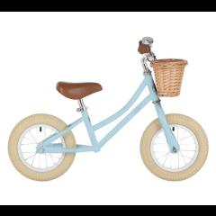 Laufrad Bobbin Moonbug Balance Bike für Mädchen und Junge 12'', blau