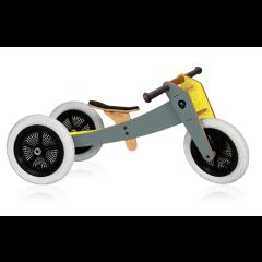 Laufrad Wishbone Original grau, für Kinder schon ab 1 Jahr, 3 in 1, Sattelhöhe 28-46 cm
