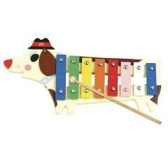 Xylophon Hund aus Holz und Metall von Ingela P. Arrhenius Vilac