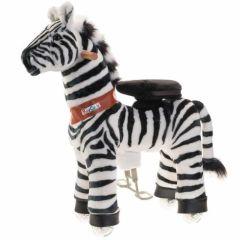 Ponycycle Zebra mit Rollen medium Spielzeug ab 4 Jahre mit 2 Jahr Garantie