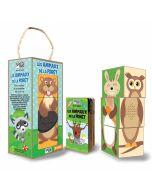 Tiere des Waldes Zusammensetzbare Öko-Spielwürfel und Begleitbuch