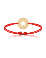 Baby Armband 18k Gelbgold beschichtet mit Stern, grau, Armband zu personalisieren, Aaina & Co