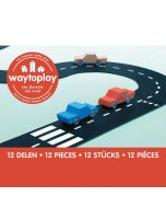 Flexible, langlebige Spielzeugstrasse Ringstrasse 12-teilige Set, Way to Play