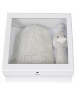 Baby Geschenkset Mütze und Rassel ab Geburt, Bambam