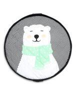 Spielsack 3 in 1 Playmat Play & Go Soft Polar Bear