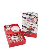 Kindergeschirr für Junge und Besteck mit Gravur 7-teilig Quick Puresigns