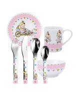 Kindergeschirr und Besteck mit Gravur 7-teilig Prinzessin Puresigns