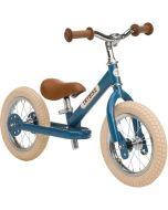 Laufrad Trybike Junge oder Mädchen Stahl 2-in-1 Vintage look, ab 15 Monate blau