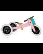 Laufrad Wishbone Original pink, für Kinder schon ab 1 Jahr, 3 in 1, Sattelhöhe 28-46 cm